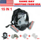 Us 15 In 1 For 6800 Facepiece Respirator Gas Mask Full Face Spraying Painting