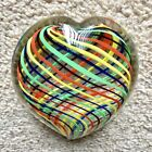 VINTAGE MURANO GLASS HEART SHAPED PAPER WEIGHT