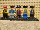 5 LEGO Pirate Minifigures Lot 3 - Free Shipping