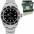 Rolex Sea-Dweller UNPOLISHED COMPLETE Stainless Steel Black 40mm Watch 16600 B+P