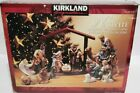 Kirkland Porcelain Nativity Set 75177 Wood 12 Piece Christmas Red Box new