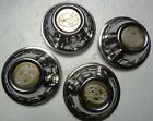 Factory Set Of 4 Stainless Chrome Center Caps To Fit 1982 Subaru BRAT