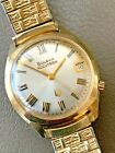 VINTAGE 1973 N3 GOLD TONE BULOVA ACCUTRON 25-YEAR SERVICE WATCH - RUNS GREAT