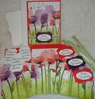 Stampin Up Card Kit POPPY PEACEFUL MOMENTS Poppies Floral Watercolor Sympathy