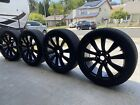 TESLA MODEL 3 19  WHEELS FACTORY OEM GLOSSY BLACK