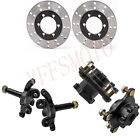 ATV Quad Front Steering Knuckle Spindle+Wheel Hub Assembly+Disc Rotor 110c 250cc