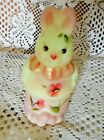 Fenton Art Glass Burmese Standing Bunny Box Showcase Dealer EX 2007 4930 XA NIB
