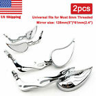 Motorcycle Chrome Rearview Mirrors For Harley-Davidson Dyna Low Rider EFI FXDLI