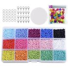 5XColored 3mm Glass Beads for Kids DIY Bracelet Art and Jewelry Making Gam W3P6