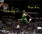 Shawn Kemp autographed signed inscribed 8x10 photo Seattle Supersonics JSA COA