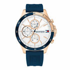 Tommy Hilfiger Chronograph Mens Analog Casual Blue Band 1791778