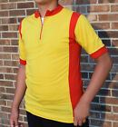 Vintage Yellow Red Cycling Jersey 100 Pure Wool
