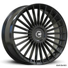 22 RF22 GLOSS BLACK CONCAVE WHEELS RIMS FOR BENTLEY CONTINENTAL GT 22X9 105