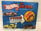 RARE VINTAGE 1981 HOT WHEELS THE HOT ONES 3 CAR SET PATCH NEW ON CARD FREE SHIP