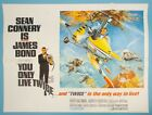 YOU ONLY LIVE TWICE British QUAD Style B Original 1967 James Bond 007 MINT