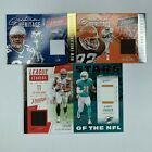 4 Card Lot of 2020 Prestige Jersey Relics parker, chubb, law, newsome