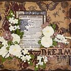 Handmade DREAM Cream  Taupe Mixed Media 12x12 Premade Scrapbook Layout Page