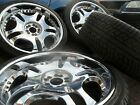 SET OF 4 x 22inch MIRROR CHROME Alloy Wheels and tyres for BMW X5 X6