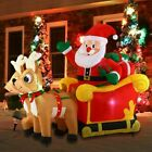 Joiedomi Christmas Inflatable Decoration 6 FT Santa Claus on Sleigh