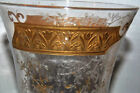 Beautiful Moser Crystal Vase Engraved Gold Band Tulips Embossed Flowers 10T
