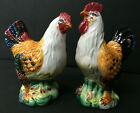 VINTAGE CHICKEN AND ROOSTER SALT  PEPPER SHAKERS 1940