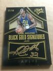 2015-16 Black Gold Signatures Karl Malone Autograph #'d 11 60 Utah Jazz