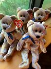 Lot of 4 Vintage TY Beanie Babies CLUBBY III THE BEAR Retired 2000 NEW w/ Tags