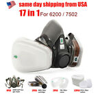 717 In 1 Half Face Mask Suit For 6200 Gas Spray Painting Protection Respirator