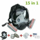 Large Respirator Gas Mask 15 In 1 Full Face Spraying Painting For 6800 Facepiece