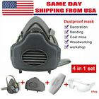 Safety Gas Mask Respirator Half Face Protect F Painting Spray Wsafety Glasses
