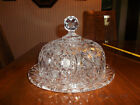 Large Imperlux Hand Cut Lead Crystal Cake Dome Covered Dish