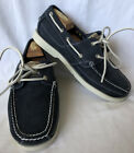 NWT TIMBERLAND Earthkeepers Navy Blue Leather Mens Loafers Boat Shoes Sz 8