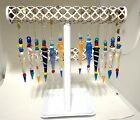 Set of 12 MURANO Art Glass Icicles Christmas Tree Ornaments Made in ITALY