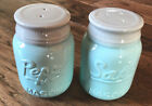 NEW Vintage Mason Jar Salt  Pepper Shakers By Comfify 35 Oz Cap