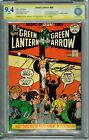 CBCS SS 9.4 GREEN LANTERN #89 SIGNED BY NEAL ADAMS WHITE PAGES GREEN ARROW CGC