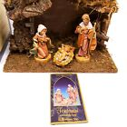 Vintage Fontanini Nativity Figure Starter Set 5 Heirloom Made In Italy In Box