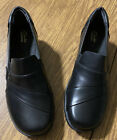CLARKS COLLECTION ESHA BLACK MARIGOLD SIZE 85M LOAFERS SLIP ONS NEW NWOB MULE