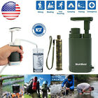 Personal Military Emergency Water Filter Purifier Travel Camping Survival Pump