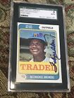 FELIPE ALOU 1974 Topps Traded autograph signed card #485T MILWAUKEE BREWERS SGC