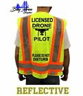 FAA NEW LICENSED DRONE PILOT HIGH VISIBILITY SAFETY GREEN VEST DO NOT DISTURB