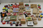 Large Rubber Stamp Lot 65+ Wood Mount foam Hero PSX Stampendous craft lot