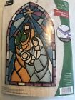 Bucilla Stained Glass Nativity Wall Hanging Felt Kit Complete Set Ready To Craft