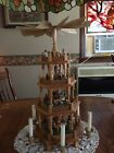 Vintage Christmas Pyramid Wood Nativity 4 Tier 22 Windmill Candles German