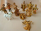 Vintage Depose Nativity Set 10 PC Holy Family 5 Wise Men Angel Musicians ITALY