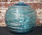 William Yeoward Blue Textural Patterned Glass Vase Large