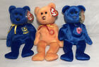 Ty Beanie Baby - Lot of 3 - M.C. Anniversary 3rd Edition/Vanda/Pompey w/Tags