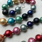 Cody Foster Mercury Glass Garland Vintage Rainbow Colors With Large Glass Beads