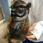 388 lb Natural stone crystal owl statue home decoration animal statue
