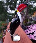 Gorgeous Glass Toucan Paradise Bird Figurine Sculpture Paperweight Murano Style