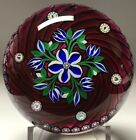 PERTHSHIRE Large Domed Paperweight w Bouquet and Picture Canes 1998 F 151 200